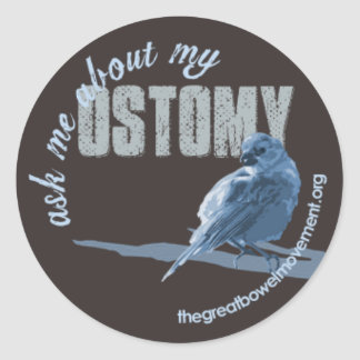 Ask Me Ostomy Little Birdie Sticker