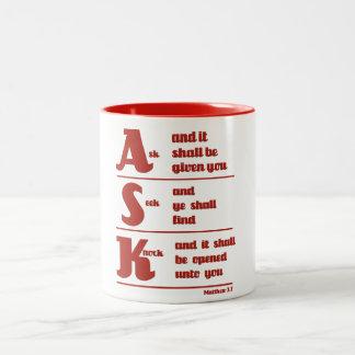 """""""Ask, Seek and Knock"""" Mug"""