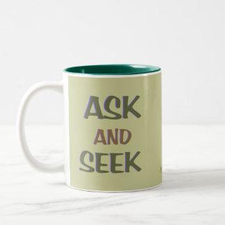 Ask & Seek ~ customizable christian mug
