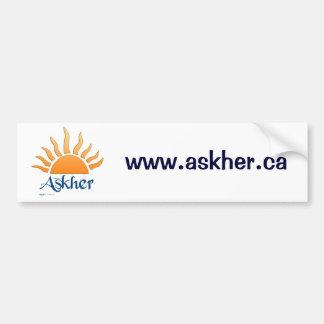 askher bumber sticker2 bumper sticker