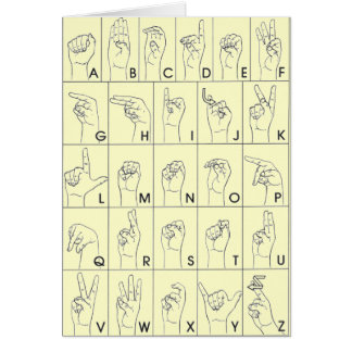 ASL American Sign Language A to Z Card