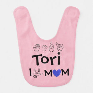 ASL American Sign Language Fingerspelled Tori Bib