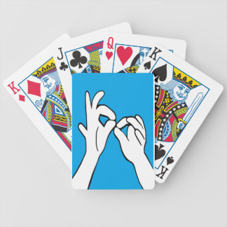 ASL American Sign Language INTERPRET Bicycle Playing Cards