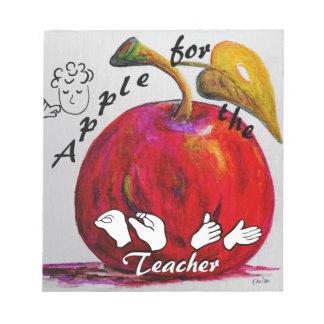 ASL Apple for the Teacher Notepad