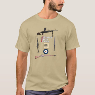 ASL British First Line Squad with Weapon Border T-Shirt
