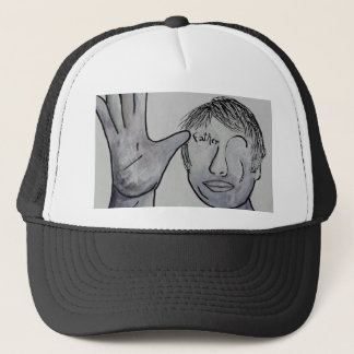 ASL Father in Denim Colors Trucker Hat