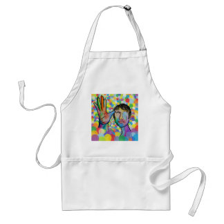 ASL FATHER on Bright Bubble Background Standard Apron