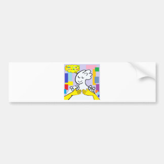 ASL Find Your Happy Place Bumper Sticker