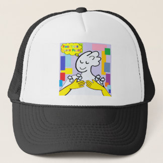ASL Find Your Happy Place Trucker Hat