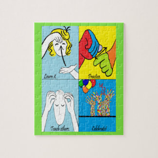 ASL Four Steps to Success Jigsaw Puzzle