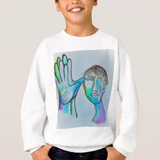 ASL Grandfather in Blue Overtones Sweatshirt