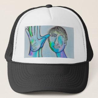 ASL Grandfather in Blue Overtones Trucker Hat