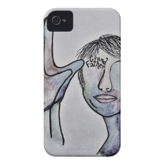 ASL Grandfather in Denim Colors iPhone 4 Cover