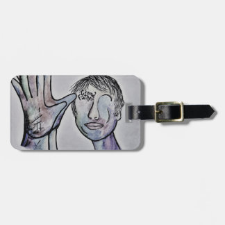 ASL Grandfather in Denim Colors Luggage Tag