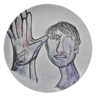 ASL Grandfather in Denim Colors Plate