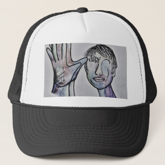 ASL Grandfather in Denim Colors Trucker Hat