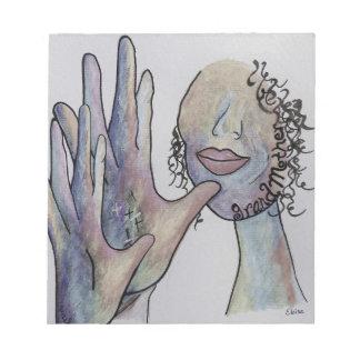 ASL Grandmother in Denim Colors Notepad