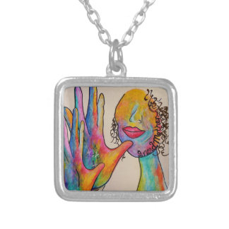 ASL Grandmother Silver Plated Necklace