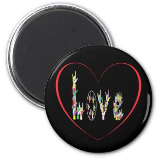 ASL Heart Full of Love Magnet