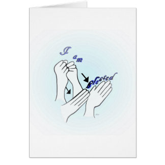 ASL I Am Blessed Card