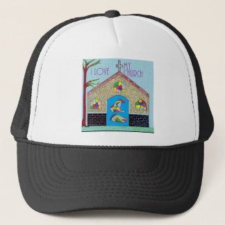 ASL I Love my Church Trucker Hat