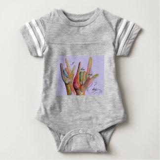 ASL I love my Kids Baby Bodysuit