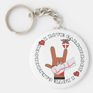 ASL I Love Sign CARDIOLOGY Key Ring
