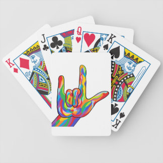 ASL I Love You BOLD COLOR Bicycle Playing Cards