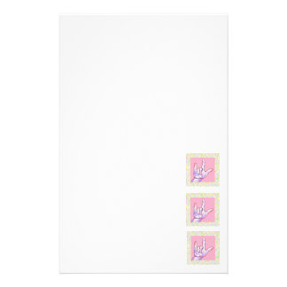 ASL I Love You in PINK Stationery