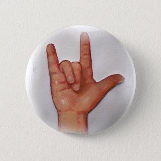 ASL I LOVE YOU NO. 3 6 CM ROUND BADGE