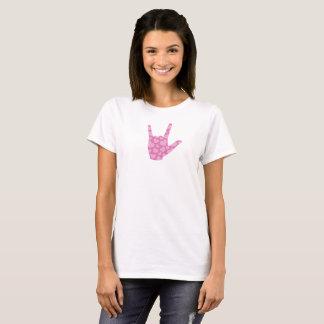 "ASL ""I Love You"" Pink Hearts Women's T-Shirt"