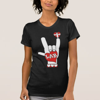 ASL I Love YOU Sign LAB LABORATORY Shirt
