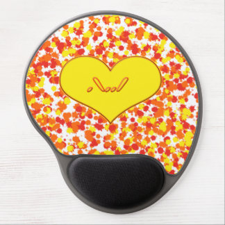ASL-I Love You with Heart Gel Mouse Mats