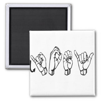 ASL JOEY FINGERSPELLED AMERICAN SIGN LANGUAGE MAGNET