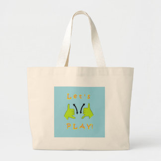 ASL Let's PLAY! Large Tote Bag