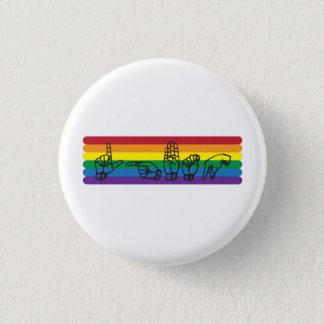 ASL LGBTQ Rainbow Pin