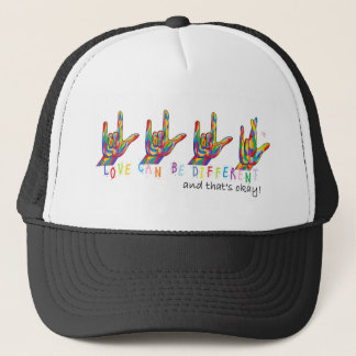 ASL Love Can Be Different Trucker Hat