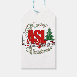 ASL MERRY CHRISTMAS - AMERICAN SIGN LANGUAGE GIFT TAGS