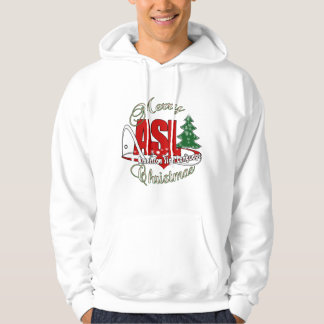 ASL MERRY CHRISTMAS - AMERICAN SIGN LANGUAGE HOODIE