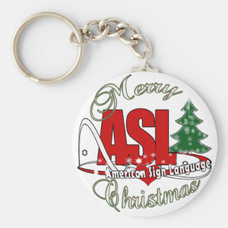ASL MERRY CHRISTMAS - AMERICAN SIGN LANGUAGE KEY RING
