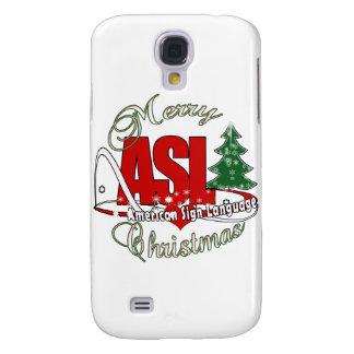 ASL MERRY CHRISTMAS - AMERICAN SIGN LANGUAGE SAMSUNG GALAXY S4 COVER