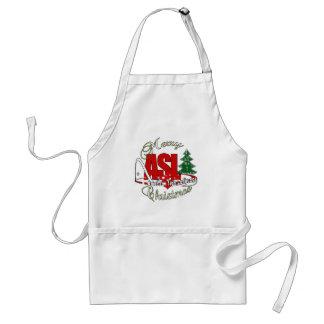 ASL MERRY CHRISTMAS - AMERICAN SIGN LANGUAGE STANDARD APRON