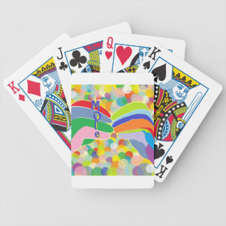 "ASL ""MORE"" on a Bright Bubble Background Bicycle Playing Cards"