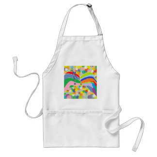 """ASL """"MORE"""" on a Bright Bubble Background Standard Apron"""