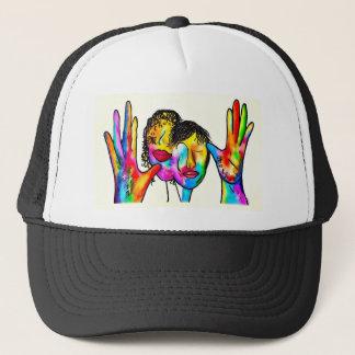 ASL Mother Father Portrait Trucker Hat