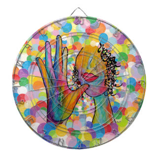 ASL Mother on a Bubble Background Dartboard