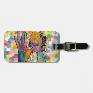 ASL Mother on a Bubble Background Luggage Tag