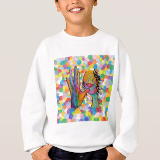 ASL Mother on a Bubble Background Sweatshirt
