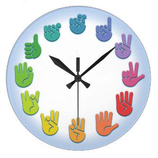 ASL Signing Clock -wh