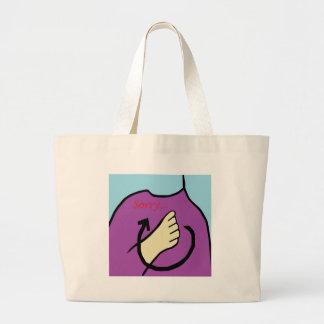 ASL Sorry Large Tote Bag